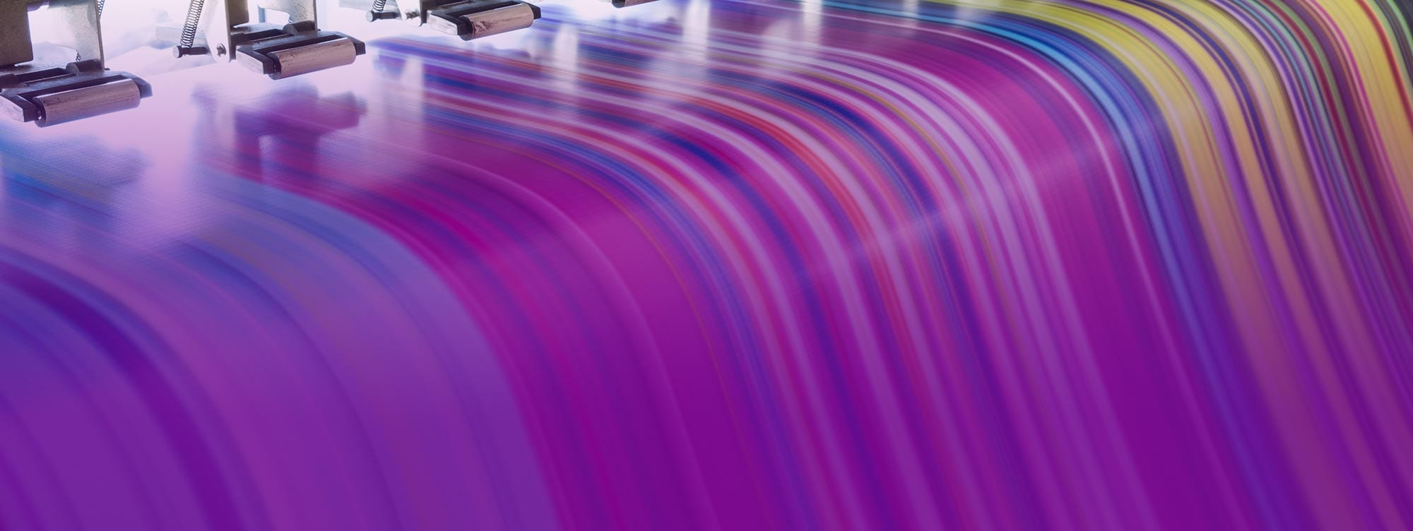 Slider Image - printer stripes of purple colors