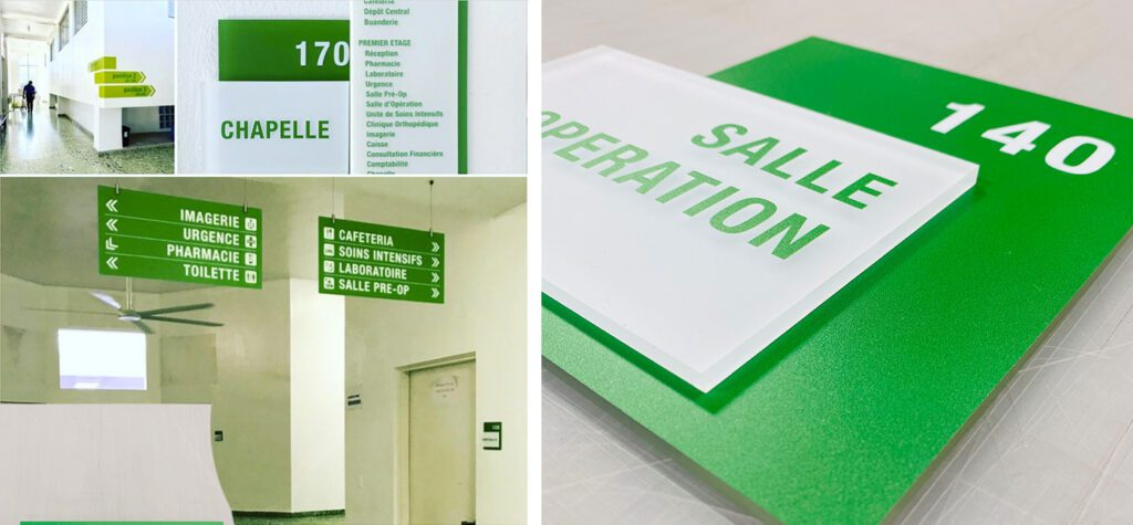 hospital directory signage & room ids in Spanish